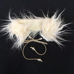 Jet Set Faux Fur Choker in Nude